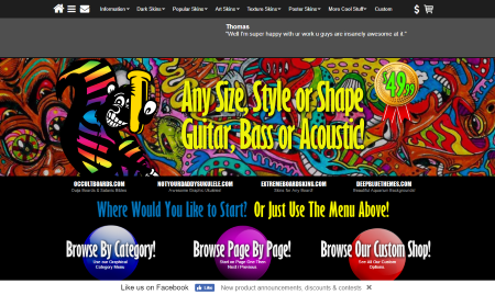 Guitar Skins Website