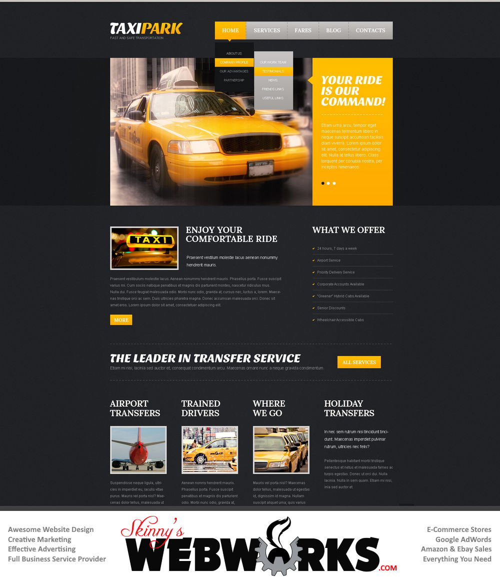 Business website designs ideas the for Blueprint websites