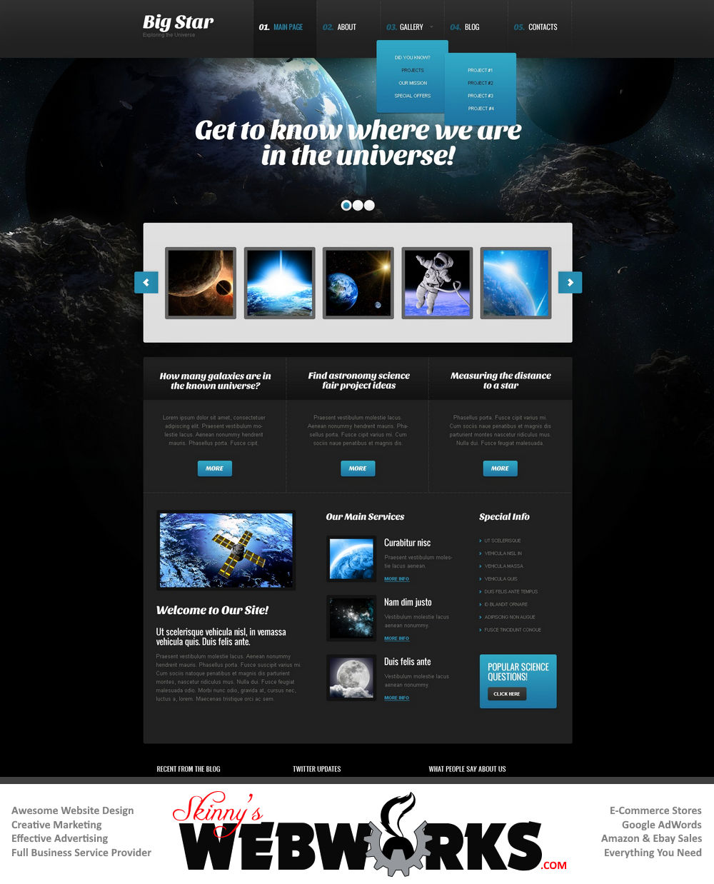 website design development themes 025 - Web Design Project Ideas